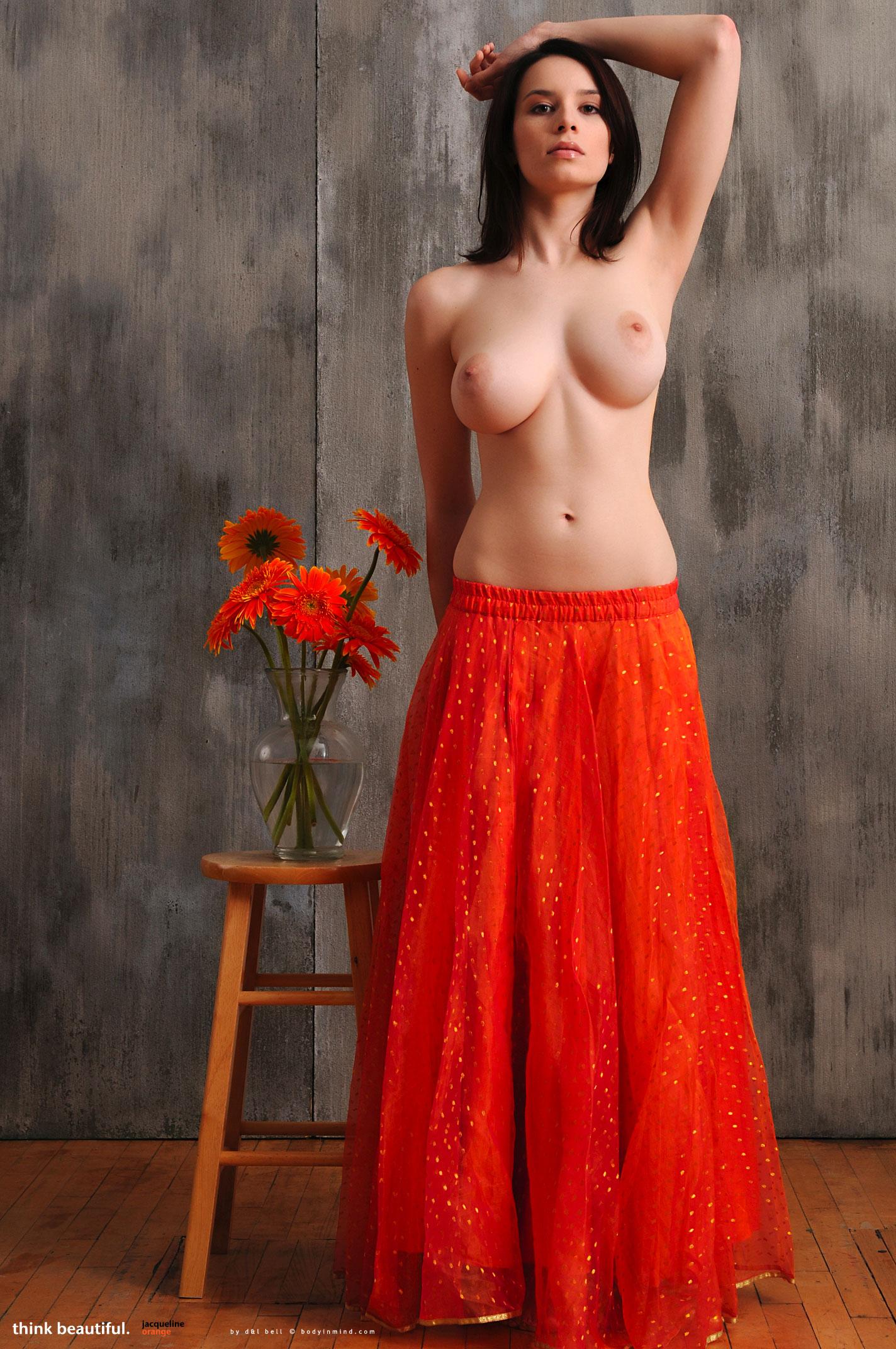 jacqueline in orange nudespuri com