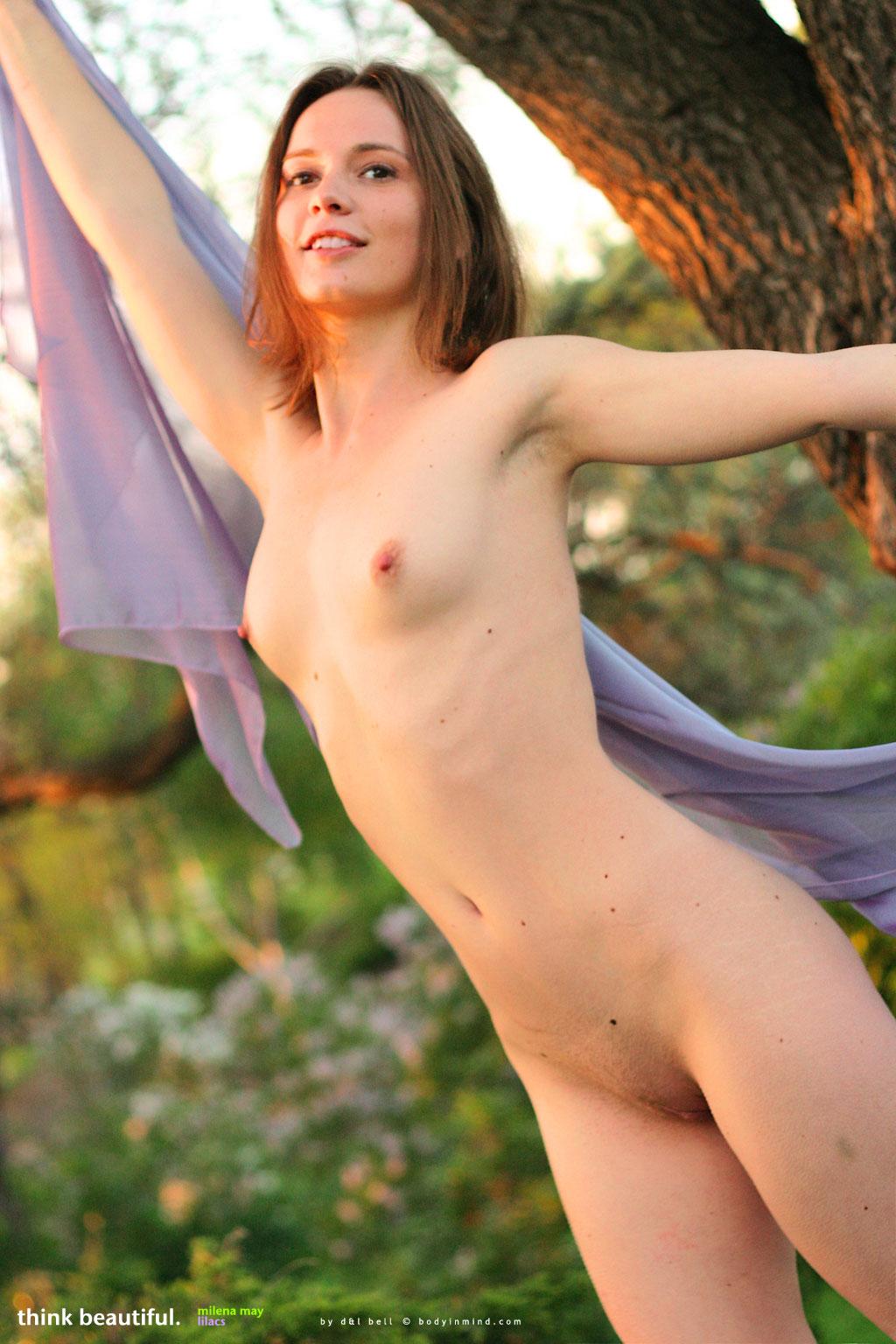 Milena May in Lilacs - NudesPuri.com