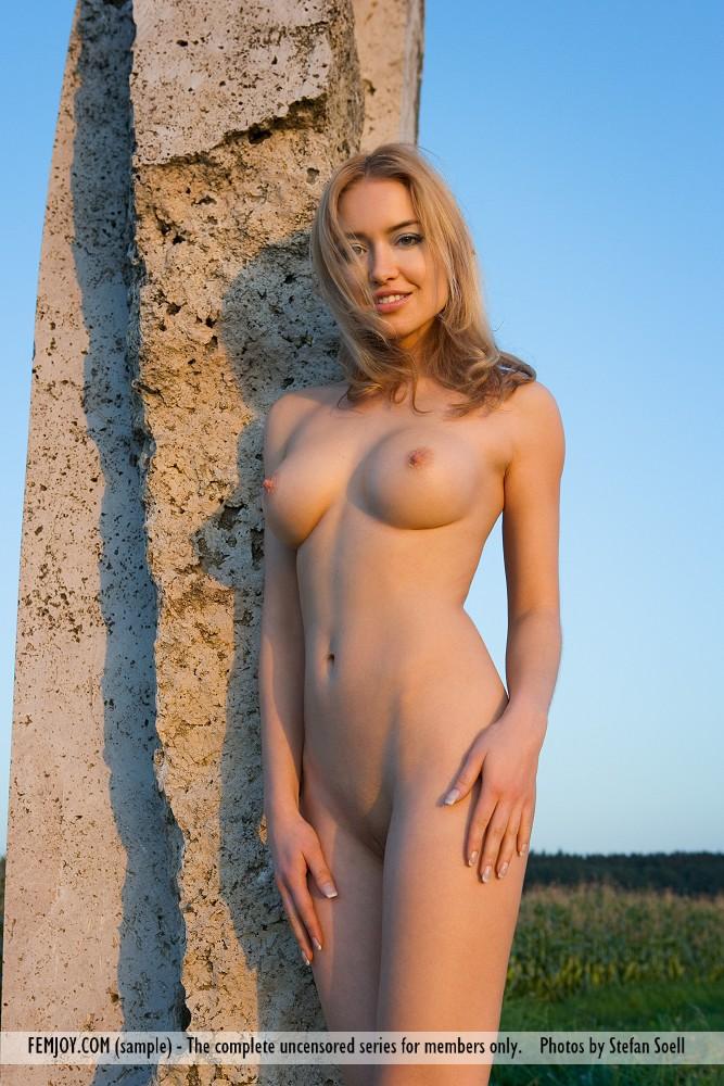 Naked chubby girl bent over