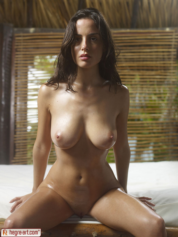 Oily wet nude babes