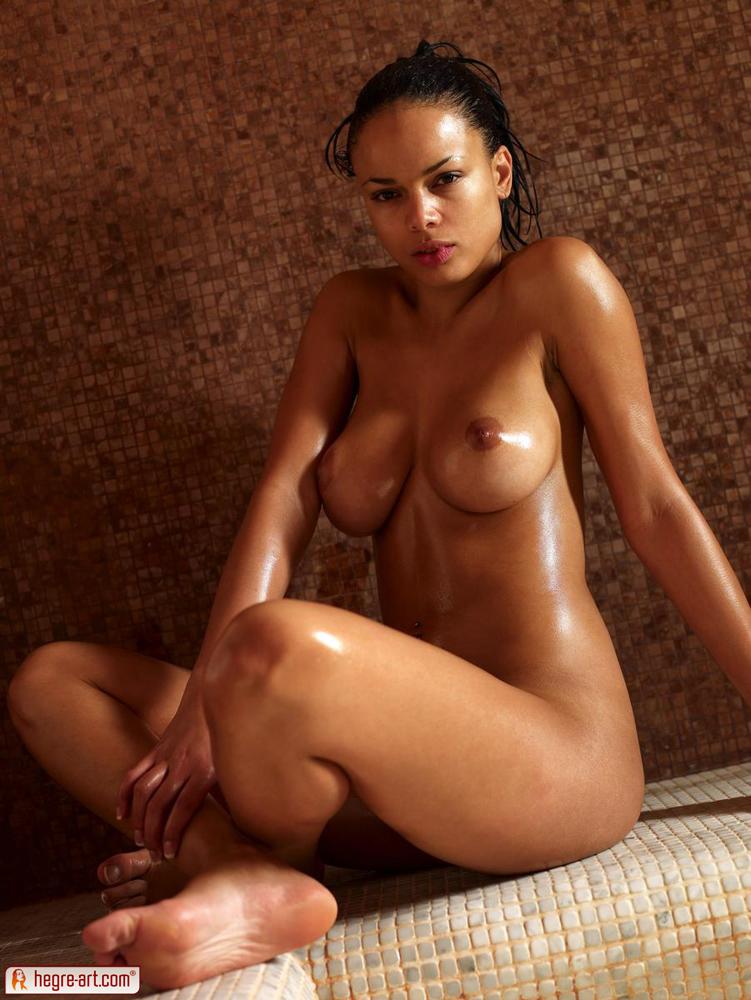 Naked girl baths turkish
