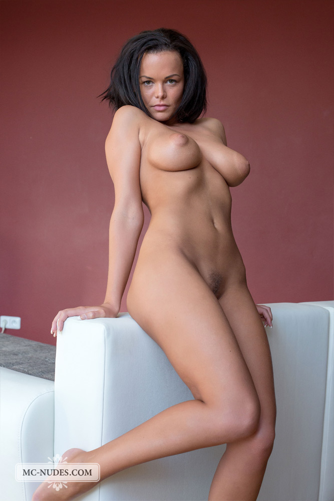 Excited too Cute brunette naked