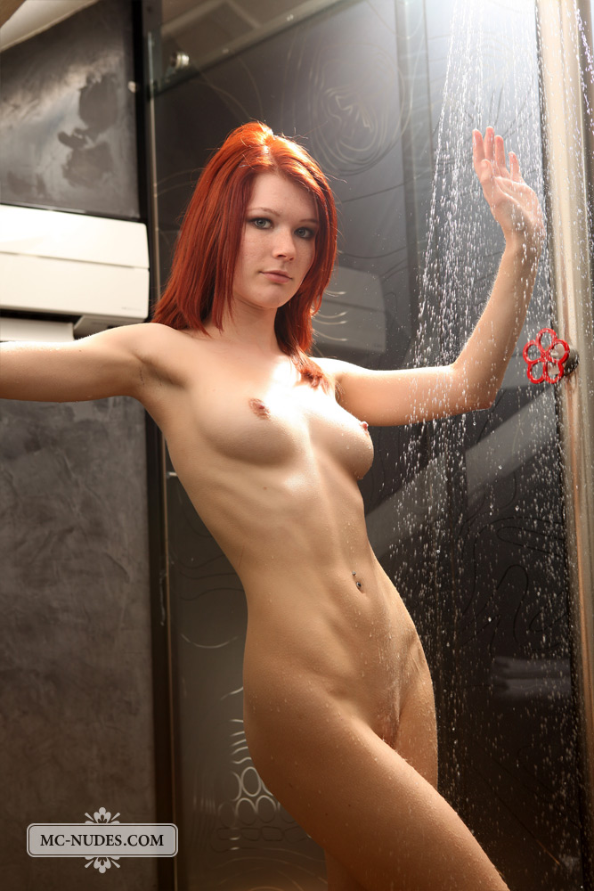 Hot Redhead Lynette In The Shower - Nudespuricom-9379