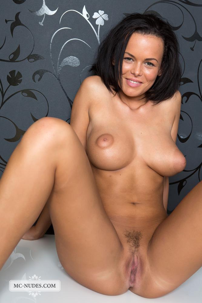 Hot brunette nude