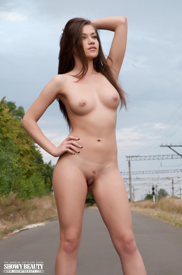 Beautiful nude brunette