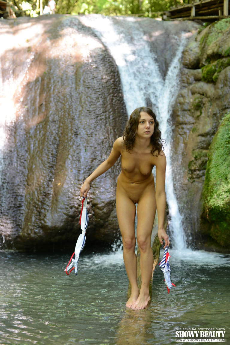 naked girls swimming in waterfalls