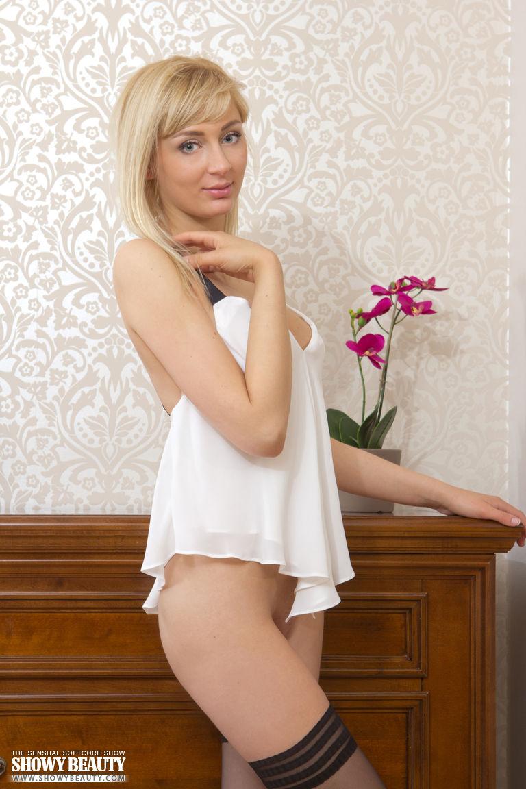 Busty blonde naked