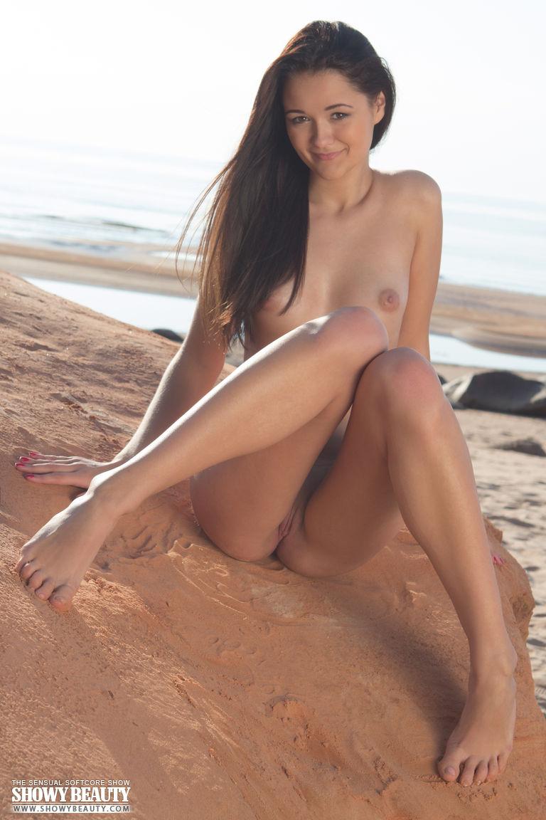 Stripping at beach