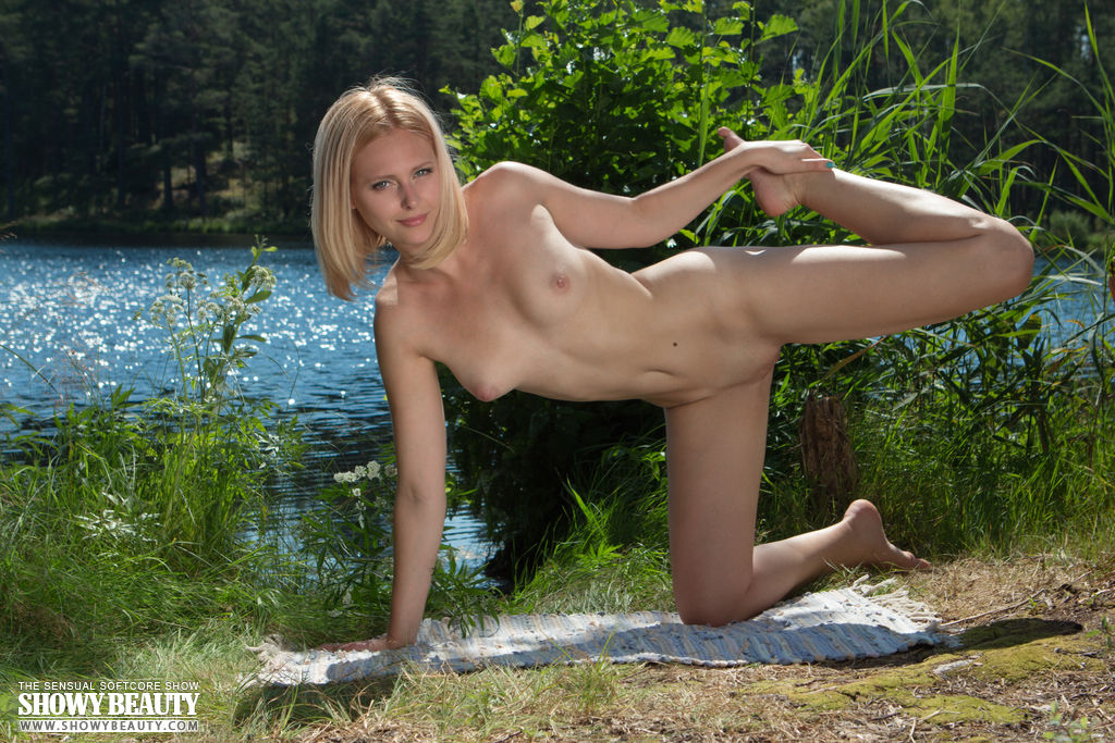Were visited Hot blonde naked yoga happens. can