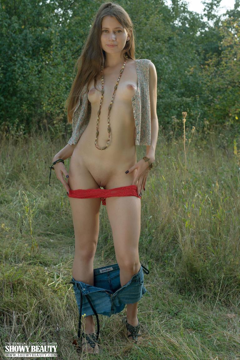 Nude Hot Teen Brunette Stripping 112