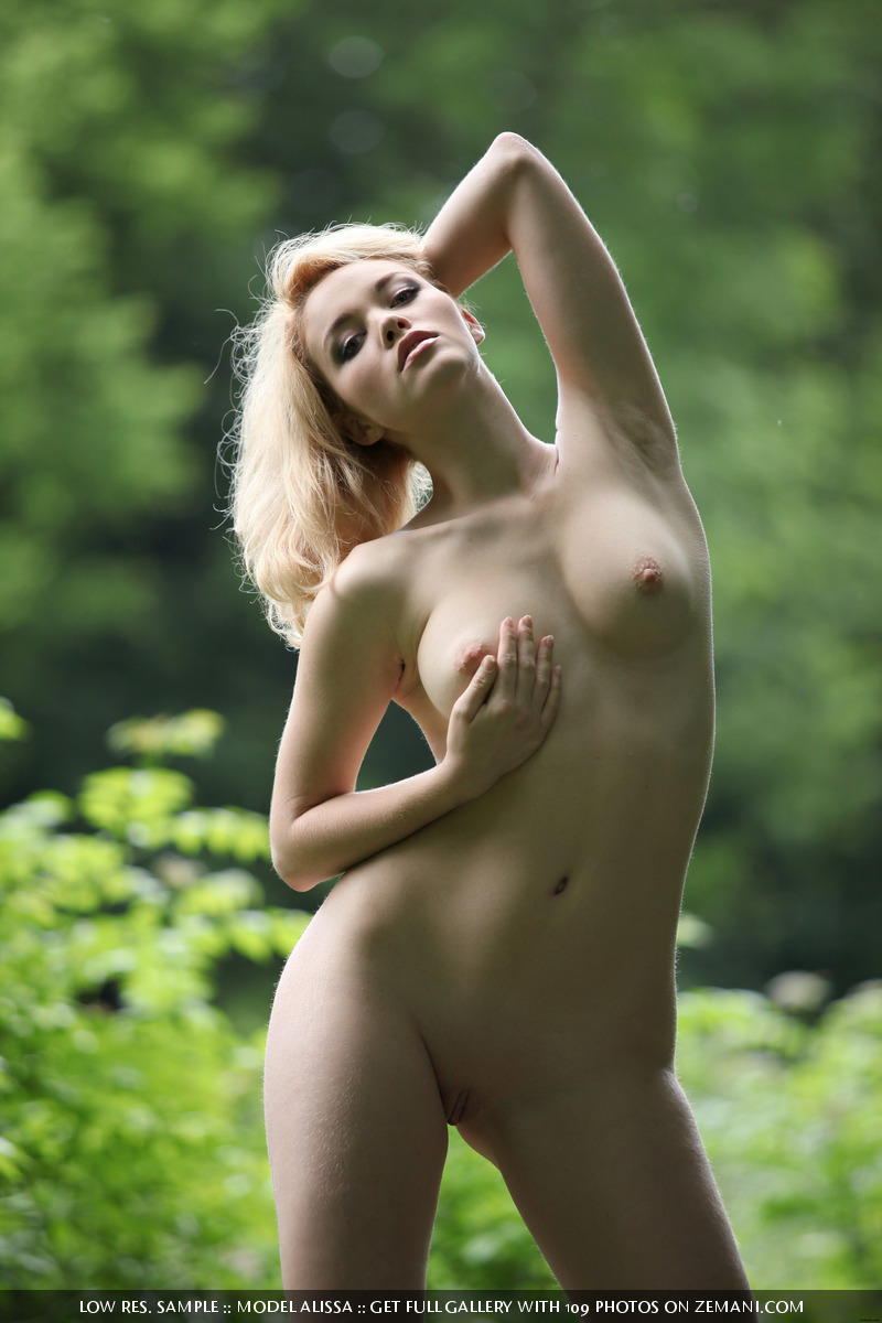 On naked grass girl