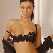 Nora In Black Negligee from European Glamour Girls